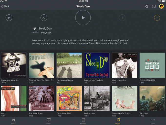 Plex adds more TIDAL-powered features, including 'Artist TV